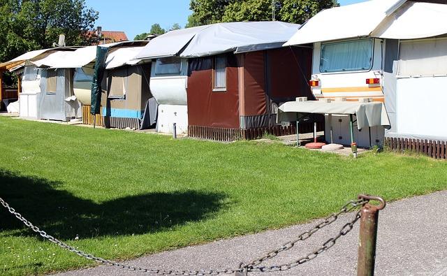 Ein typischer Campingplatz für Dauercamper.